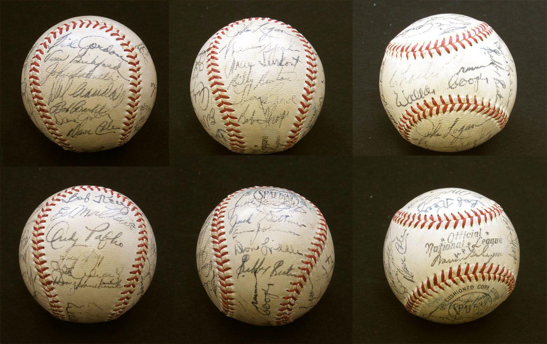 1953 Milwaukee Braves Team Signed Baseball 27 Sigs Ebay Braves Baseball Signs Baseball