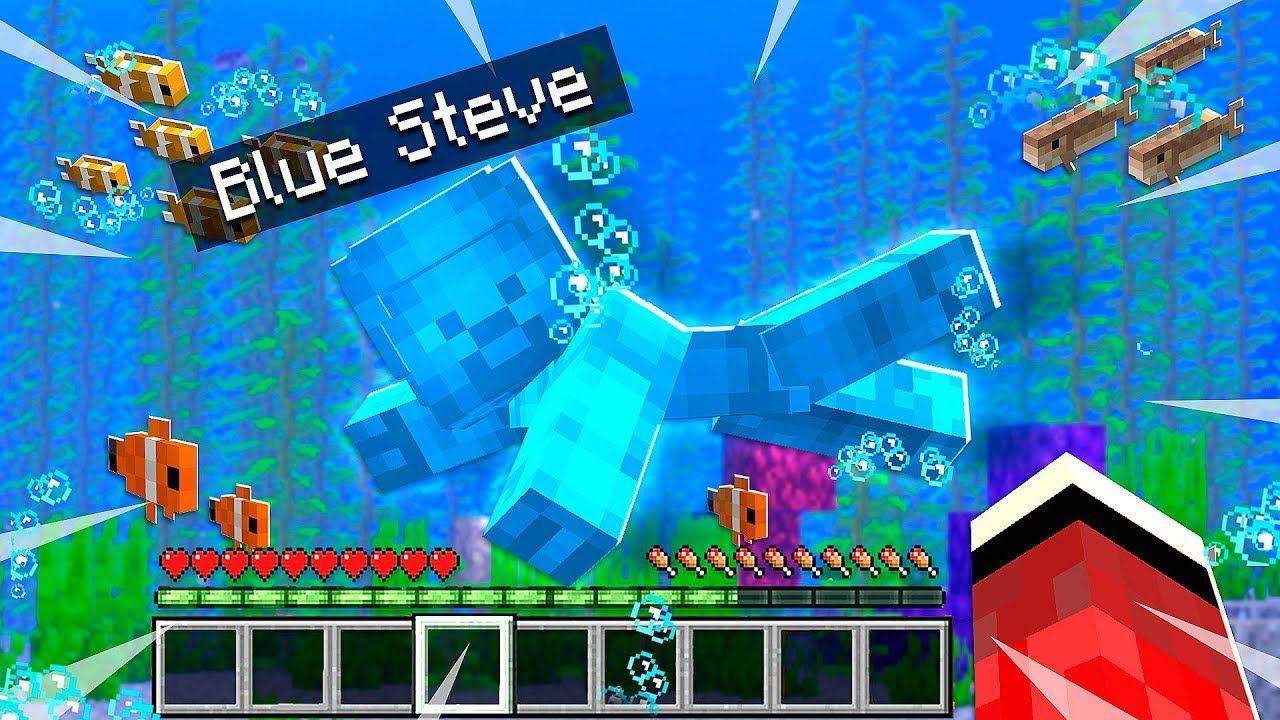 He FOUND Blue Steve Underwater in Minecraft! (MCPE