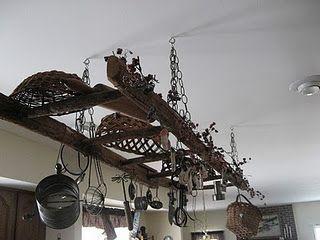 Old Ladders As Shelving Old Ladder Hanging Ladder Repurposed Ladders