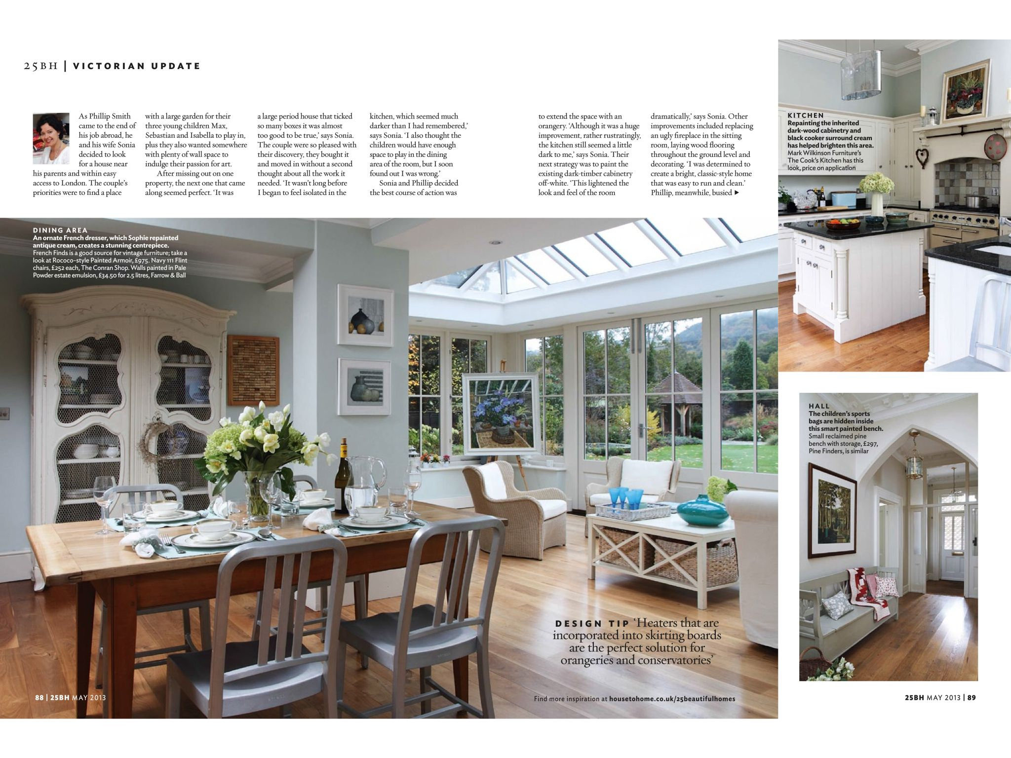 Modern country style farrow and ball pale powder colour case study - Walls In Pale Powder Farrow And Ball