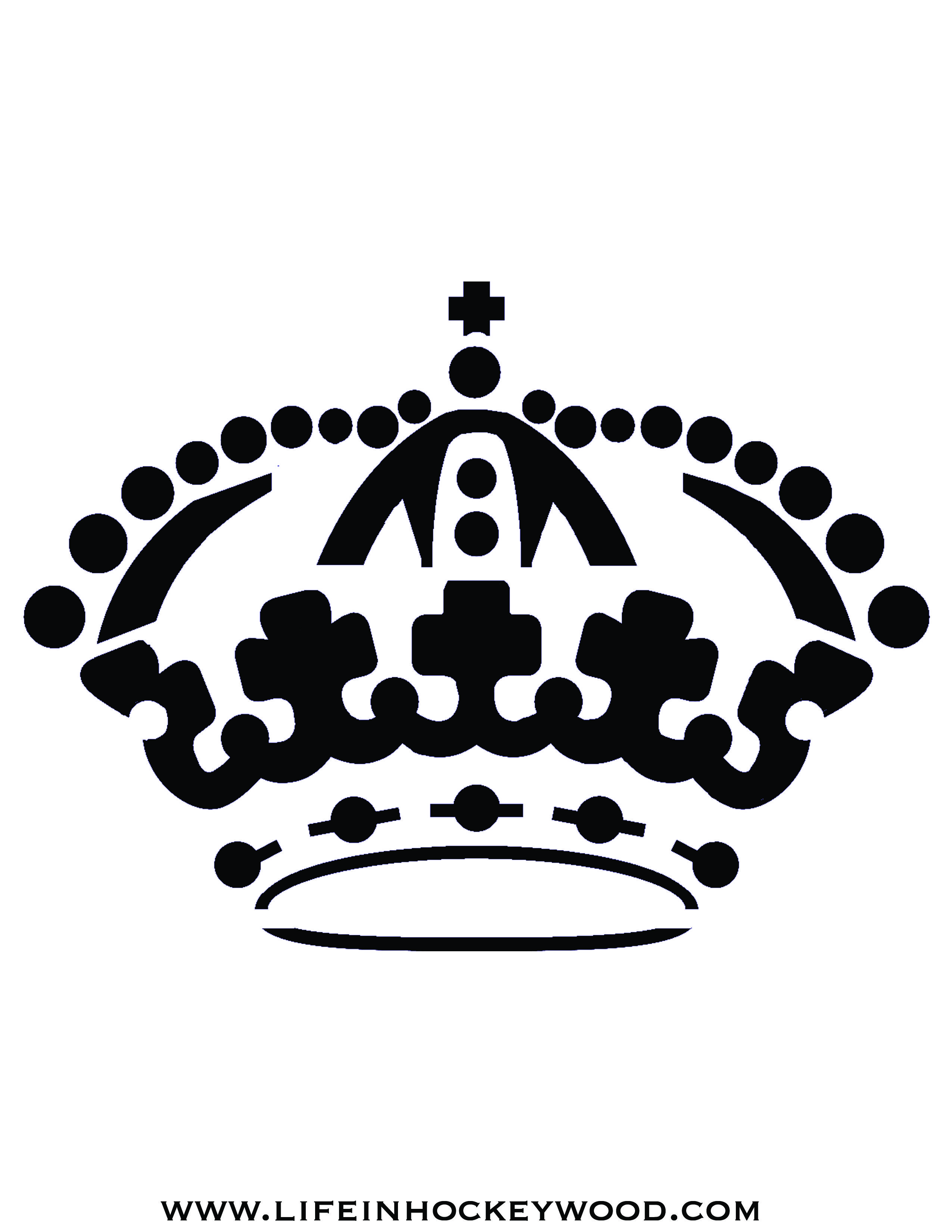 Stencil King Crown