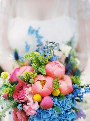Un mariage champêtre en bleu en Belgique