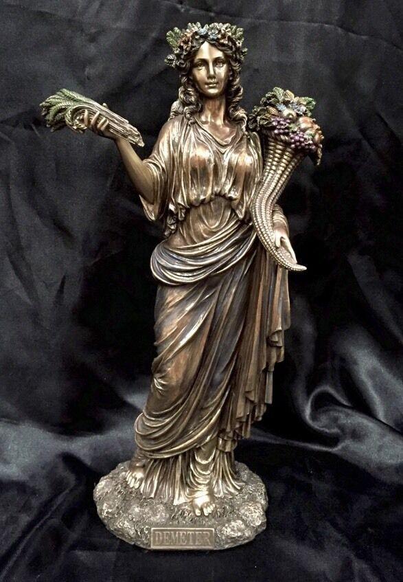 Demeter Greek Goddess Bronze Cold Cast Coated Statue 31cm ...