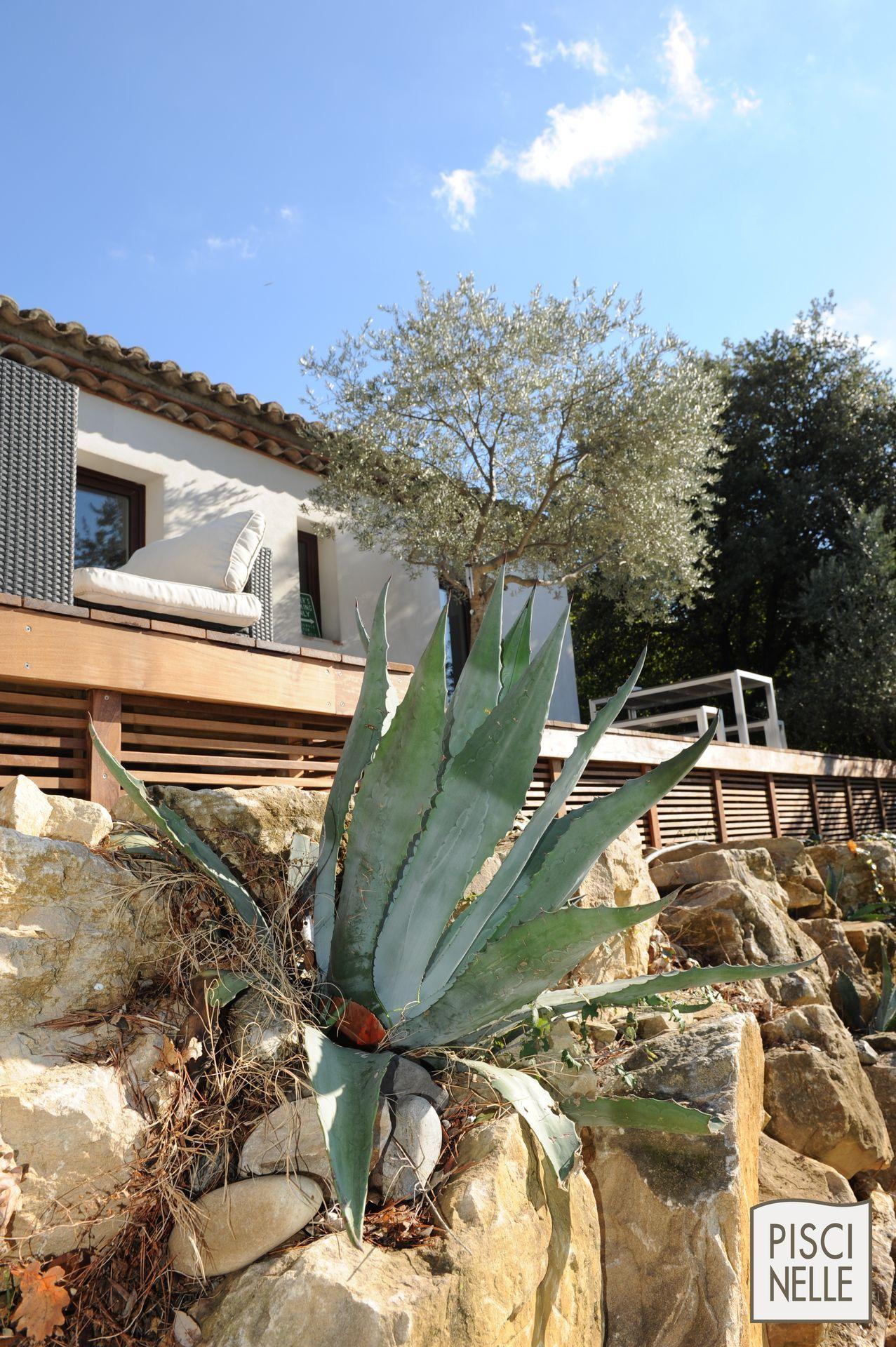 Piscine De Charme Sportive Avec Enrochement En Provence La