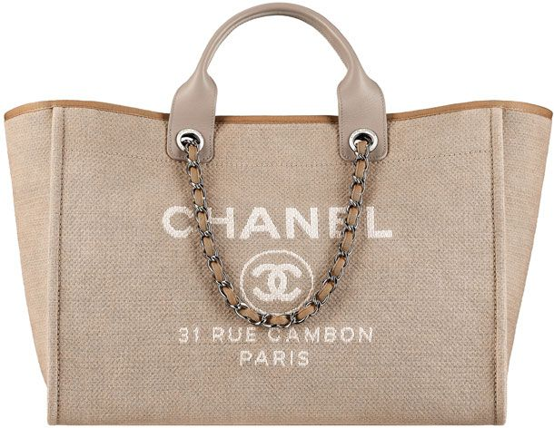2015 Chanel-Deauville-Tote-Large-Bag | C H A N E L | Pinterest ...