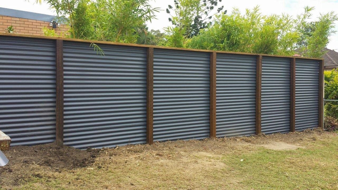 the fence we built cl ture t le ondul e pinterest t les ondul es cl ture en bois et t le. Black Bedroom Furniture Sets. Home Design Ideas