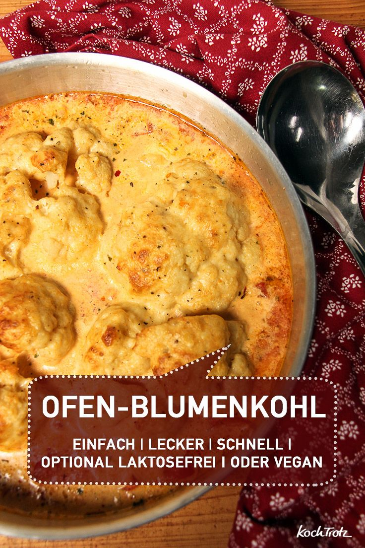 Cremig und lecker: Ofen-Blumenkohl - KochTrotz | kreative Rezepte