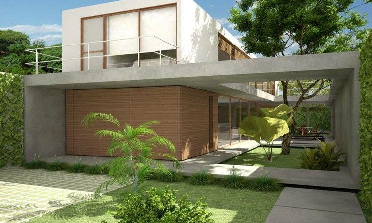 Revestimiento de paredes exteriores 50 ideas pinterest for Revestimiento fachadas exteriores