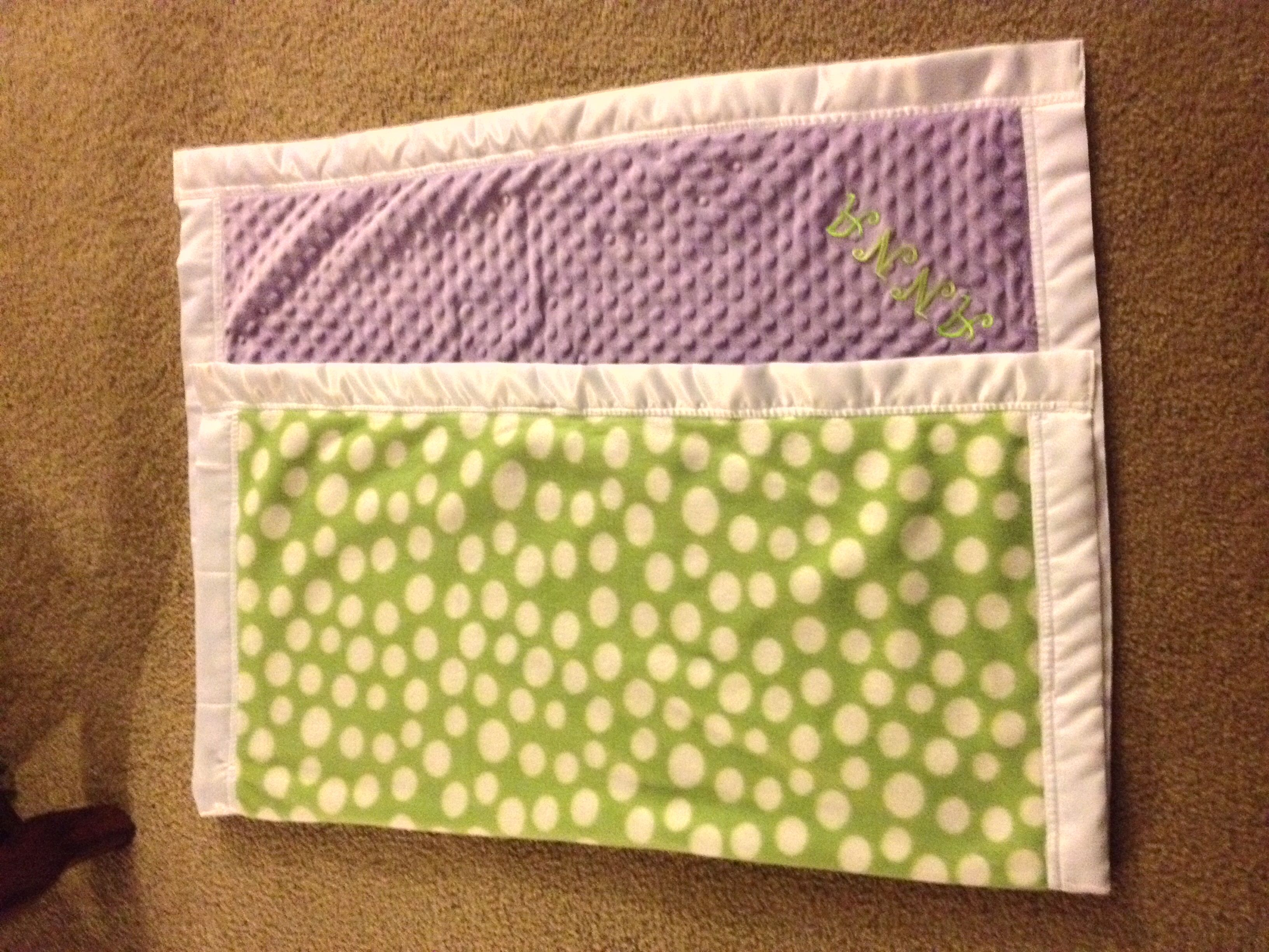 A blanket i made for my newborn niece pieces of material of your