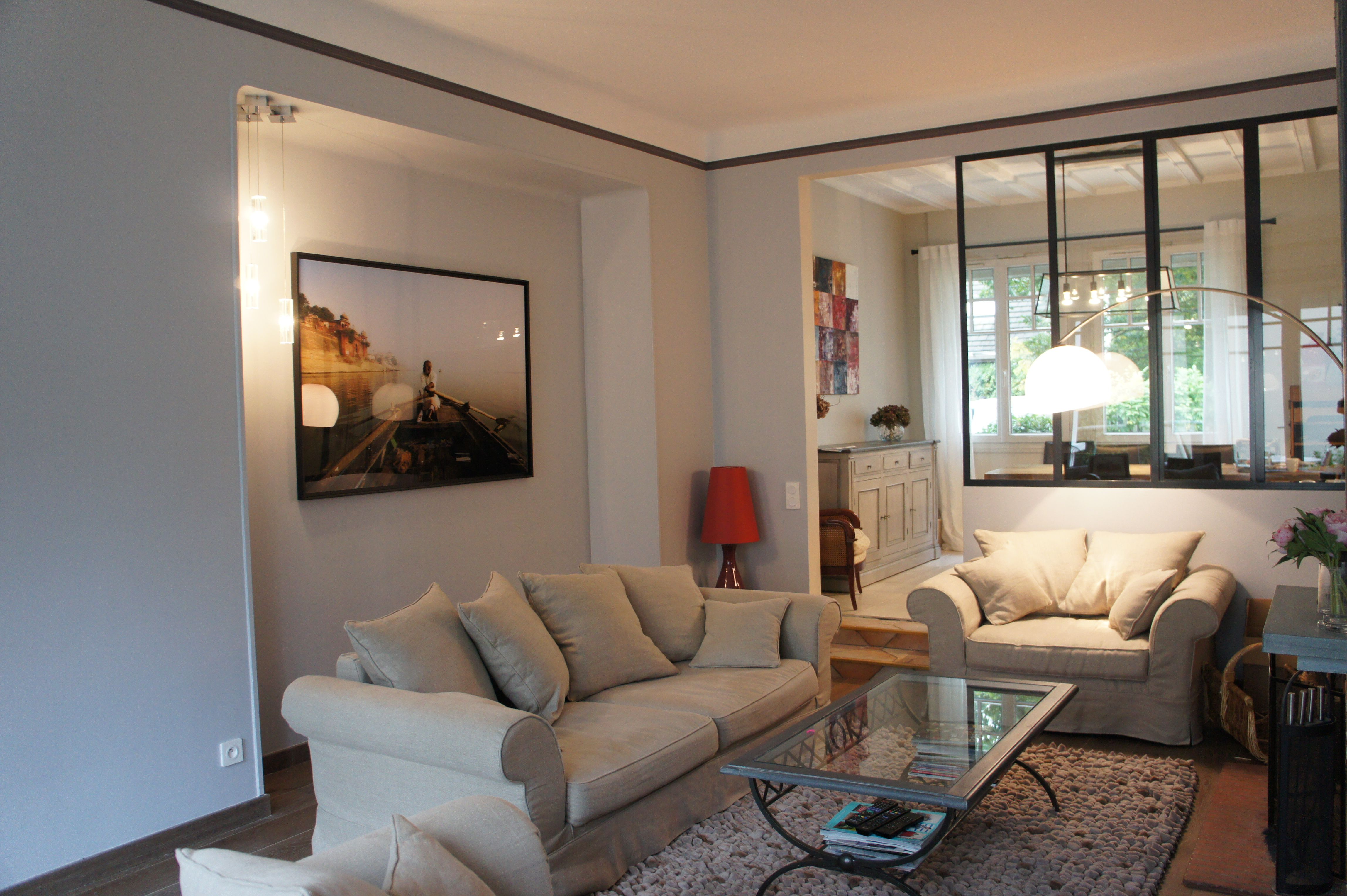 chantier du mois am nagement du salon avec la d coration. Black Bedroom Furniture Sets. Home Design Ideas