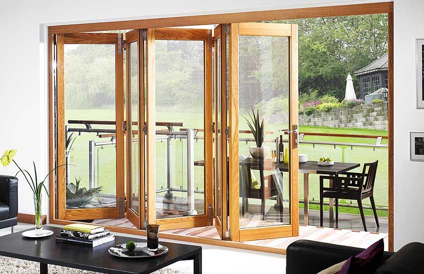 Great wooden bi fold doors. The proportion of the panel;s is really ...