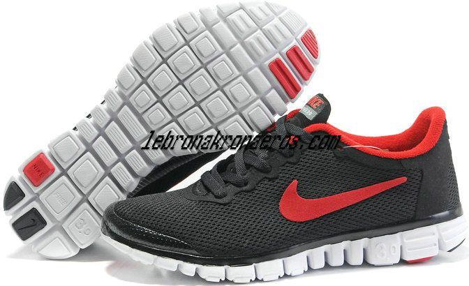 Nike Free 3.0 V2 Mens Running Shoes Black Red 354574 005