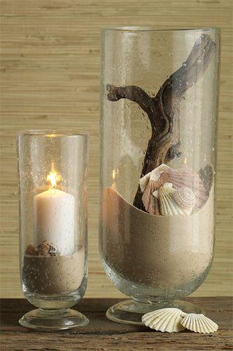sand decoration | deco | Déco maison, Décoration bougies et ...
