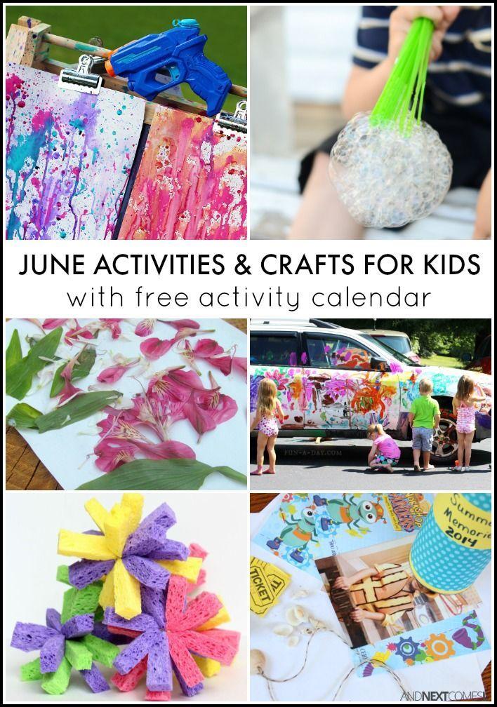 30 June Activities for Kids {Free Activity Calendar} Spring - activity calendar