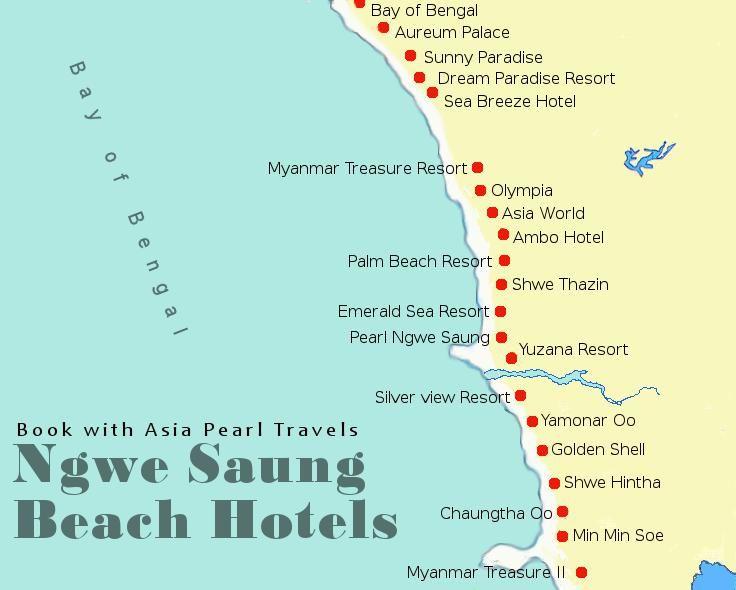 Ngwe Saung Beach Hotels