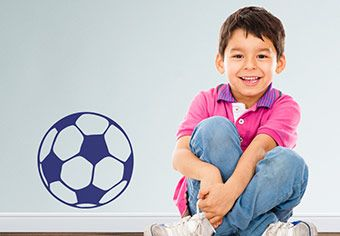 Soccer Ball Wall Decal - Great Sports Vinyl Decor for college for