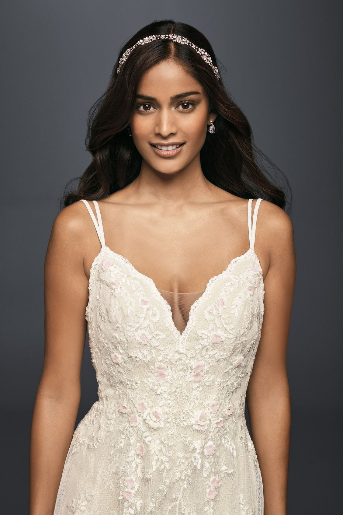 Scalloped A Line Wedding Dress With Double Straps David S Bridal Sweet Wedding Dresses Wedding Dresses Trendy Wedding Dresses [ 1692 x 1128 Pixel ]
