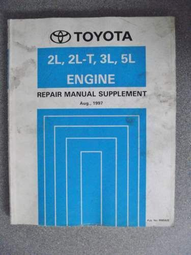 Toyota 2l T 3l Engine Repair Manual Supplement 1990