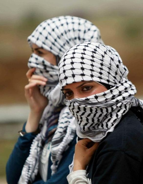Palestinian Women in protest free my sisters and mothers