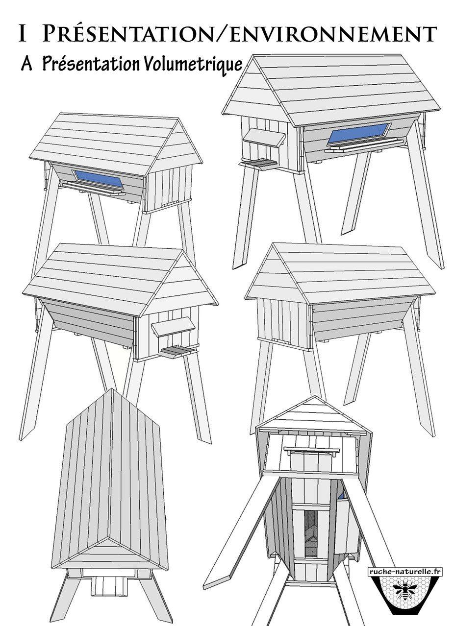 plan ruche en palettes sous toutes ses faces. Black Bedroom Furniture Sets. Home Design Ideas