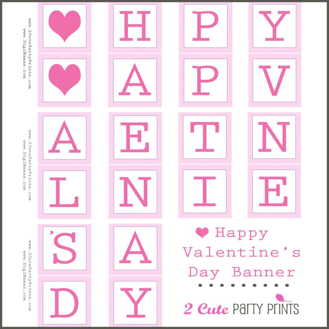 Happy Valentine S Day Banner Printable
