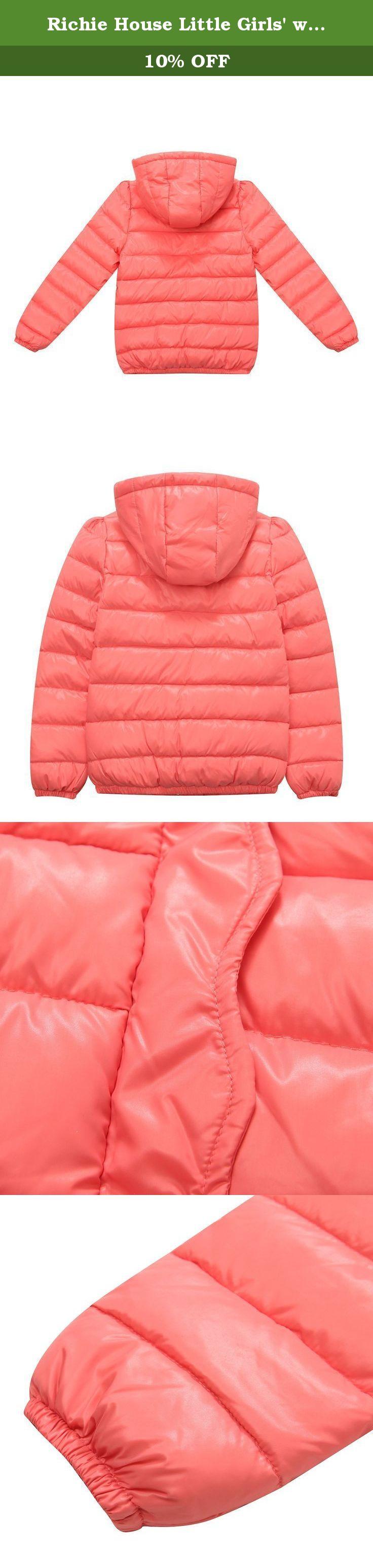 ce48ac68e1f8 Richie House Little Girls  winter padding jacket with ruffled p ...