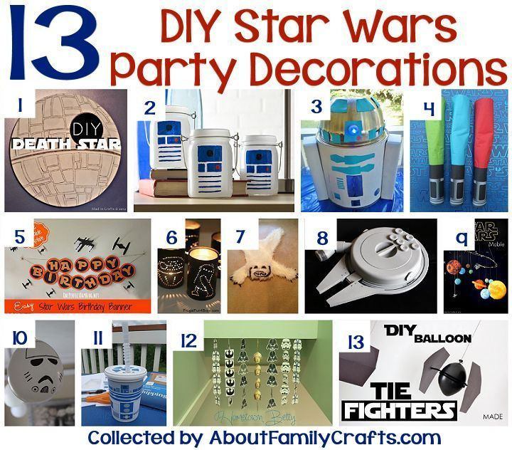 6+ DIY Star Wars Party Ideas  Star wars party decorations, Star