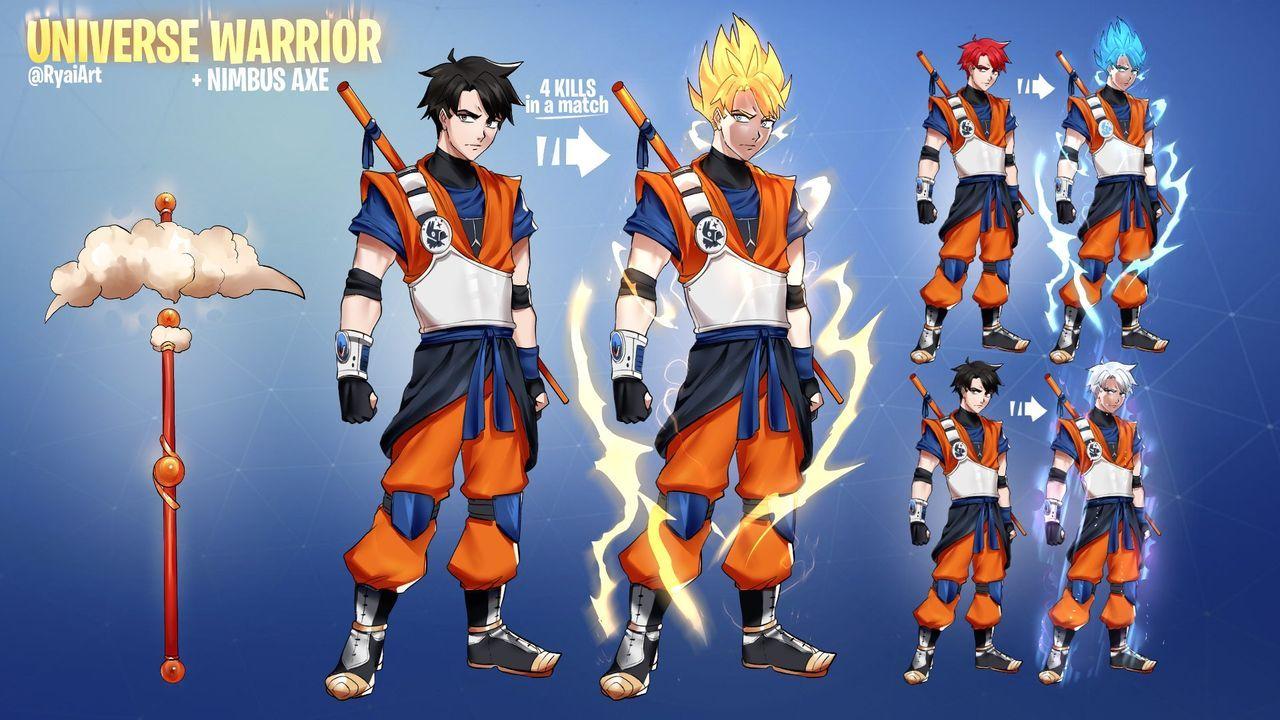 When Will Fortnite Release Naruto Skins Designed A Dragonball Inspired Fortnitegame Skin Because I M A Huge Nerd Dragon Ball Super Artwork Anime Dragon Ball Super Dragon Ball Super Goku