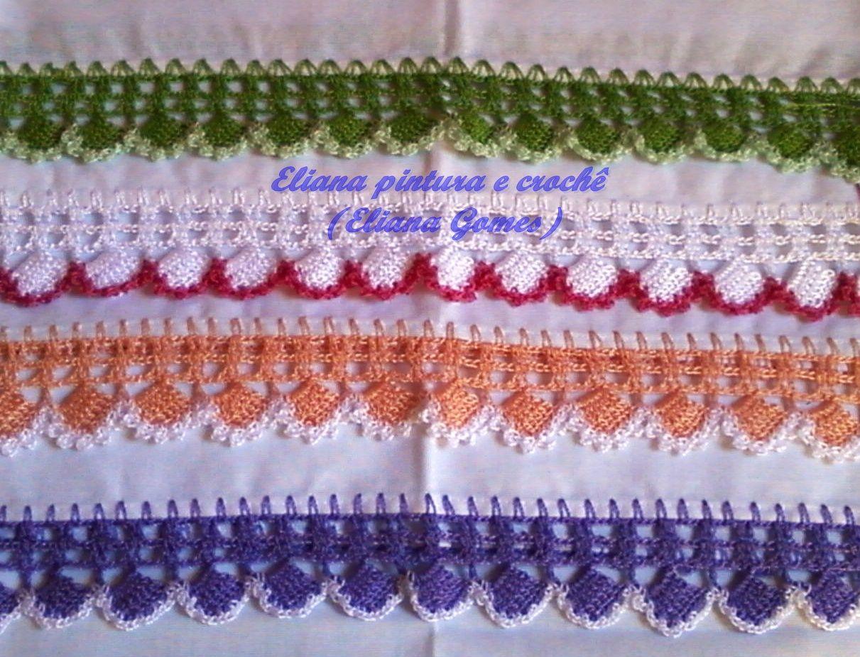 Barradinhos De Croche Com Imagens Panos De Prato Pano