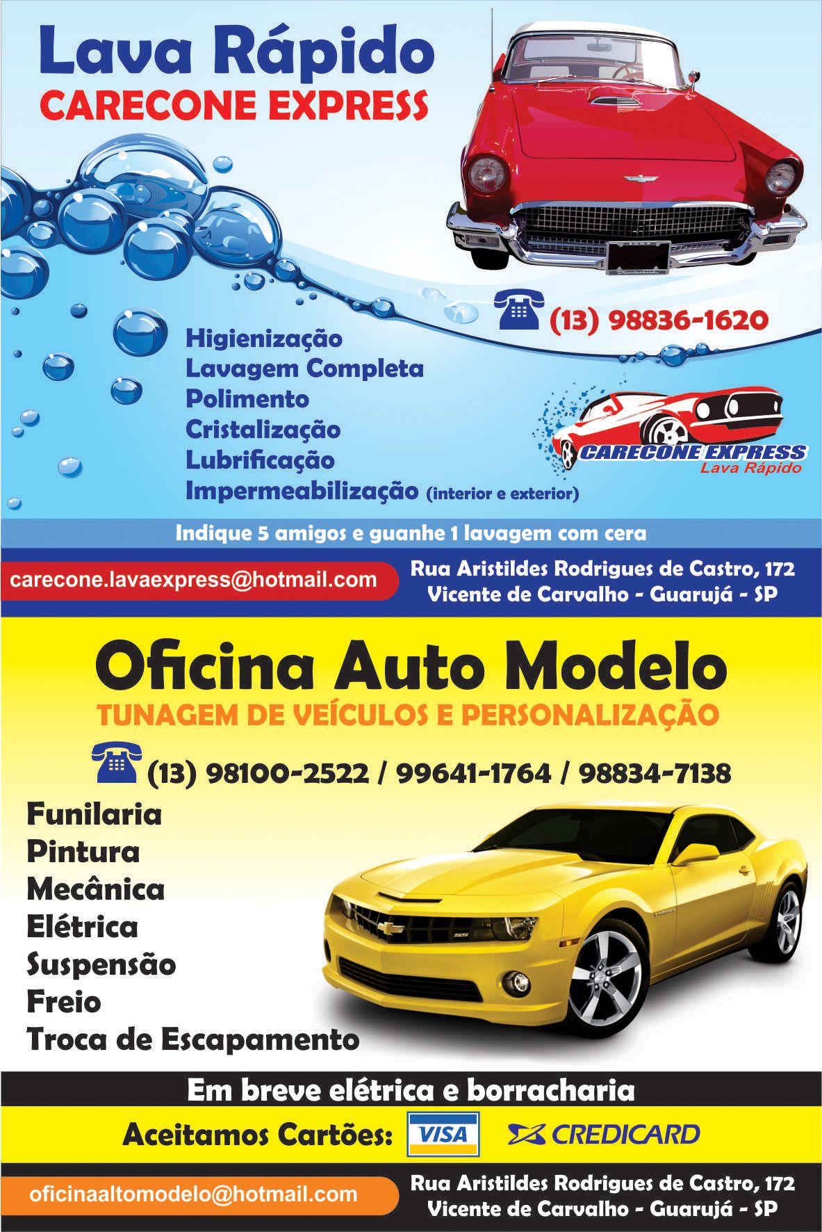 Oficina Auto Modelo Panfleto Panfletos Em 2019