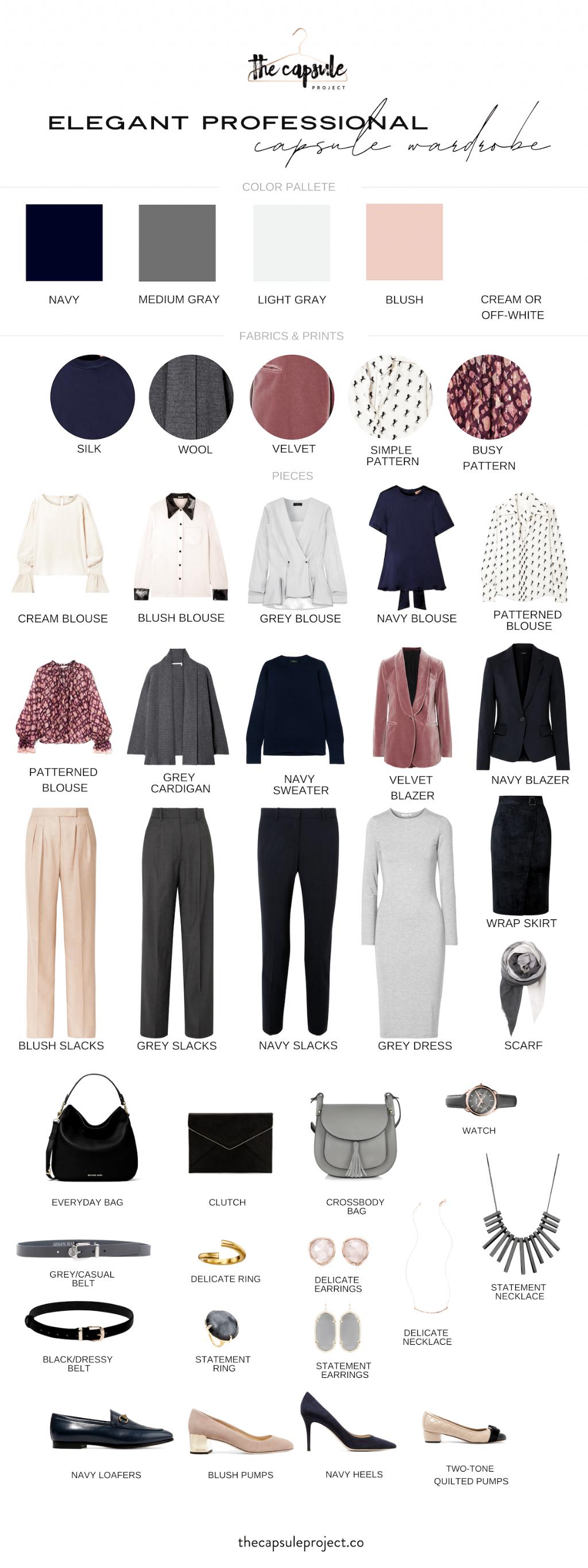 Winter 2019 Capsule Wardrobe for work. Professional Capsule Wardrobe for the sophisticated woman