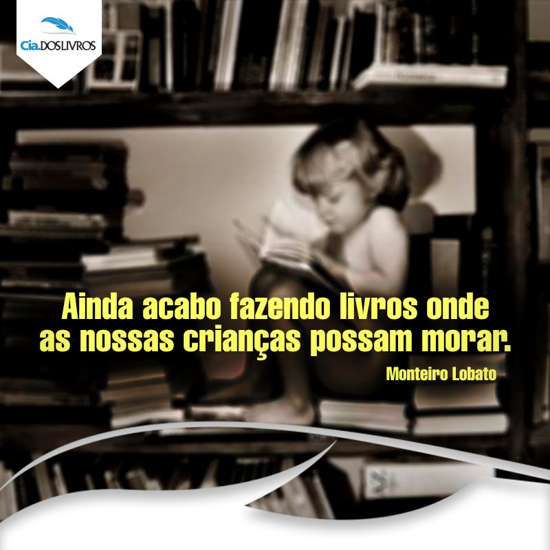 Só podia ser o Monteiro Lobato...  Desejamos um #BomDia em companhia da Cia. ;D