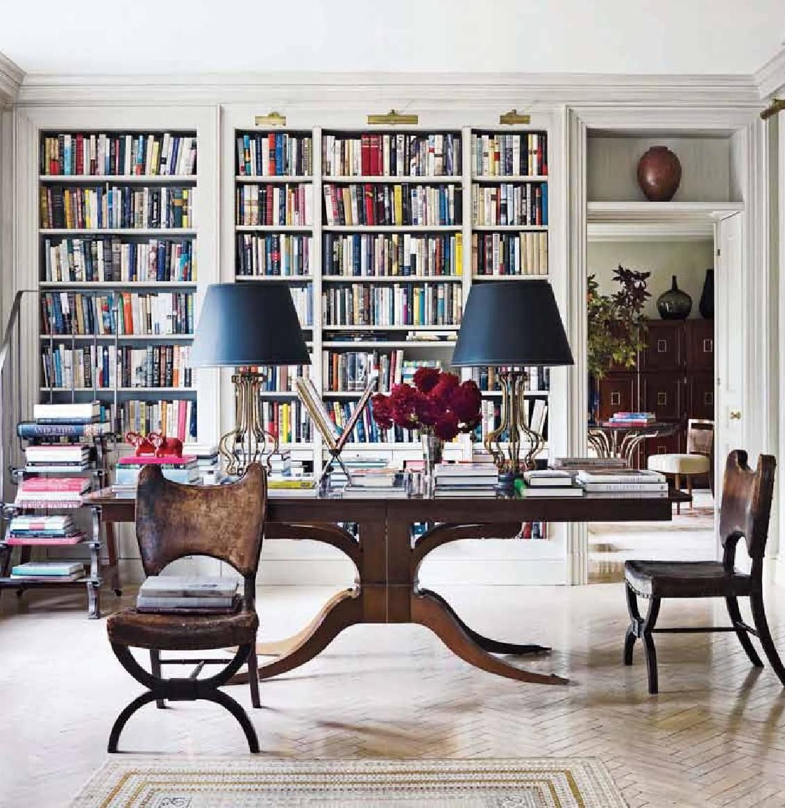 Zeitschriften Aufbewahrung Bibliothek Elle Decor The Height Of Style Home Libraries