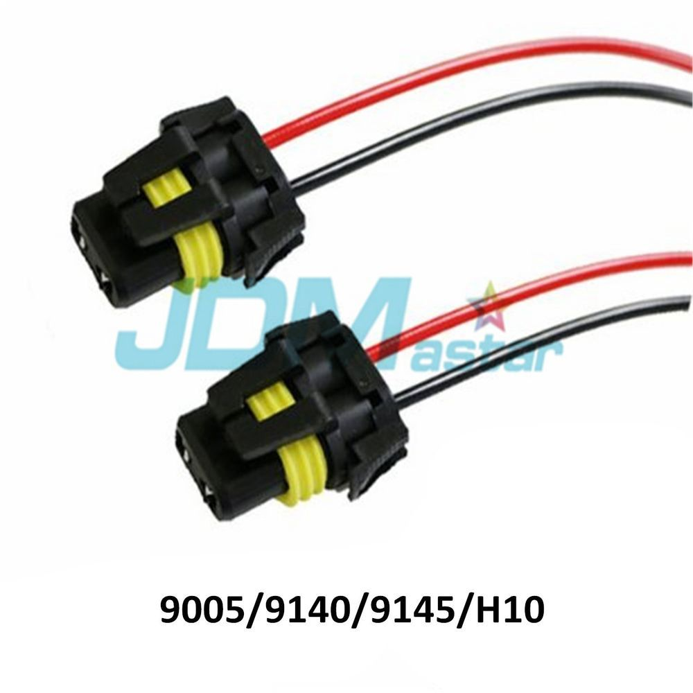 Jdm Astar 9005 H10 Female Adapter Wiring Harness Sockets Wire For Fog Headlights Jdm Sockets Headlights