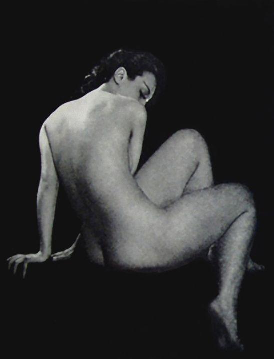 1940 Vintage Black Nude