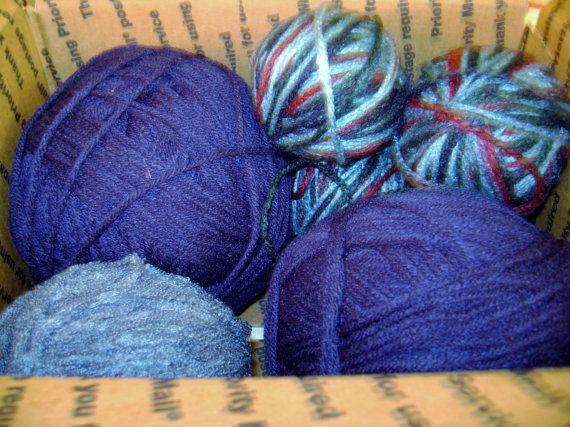 SALE Bundle of yarn blues large skein navy by SkyAccessoryBoutique, $10.00