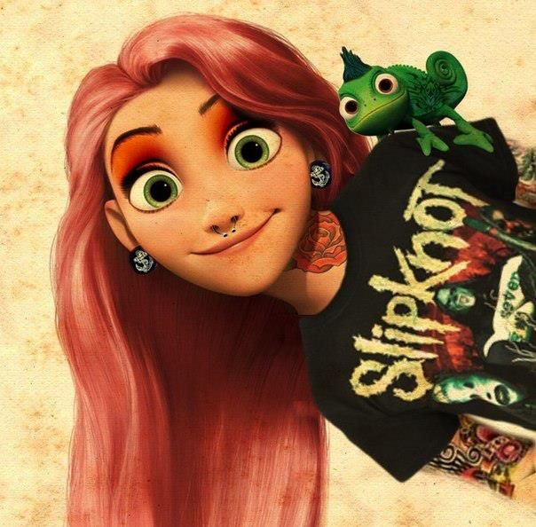 Rock 'n' Roll Rapunzel // Tangled with a twist. #tangled