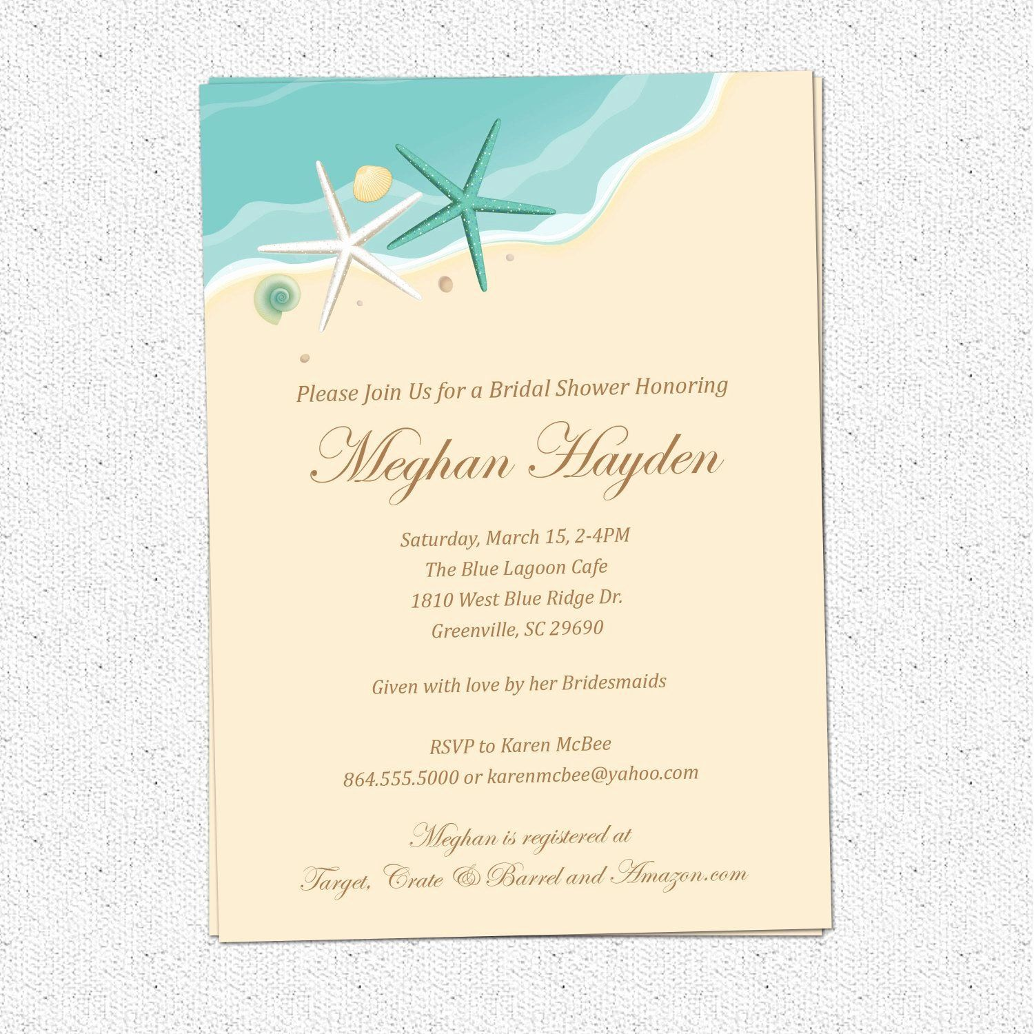 Beach Wedding Invitation Templates Elegant Beach Wedding