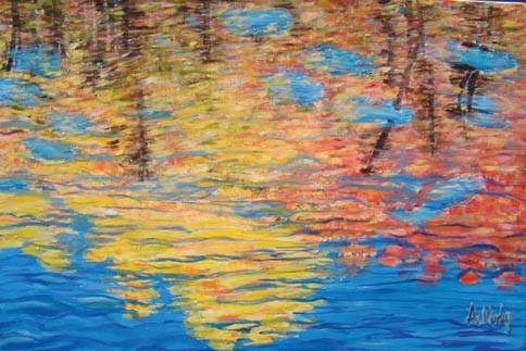 Autumn Morfey, a senior at Janesville Craig High School, used oil on canvas to paint this image.