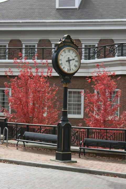 CLOCK AT OHIO STATE UNIVERSITY..ATHENS OHIP...2013