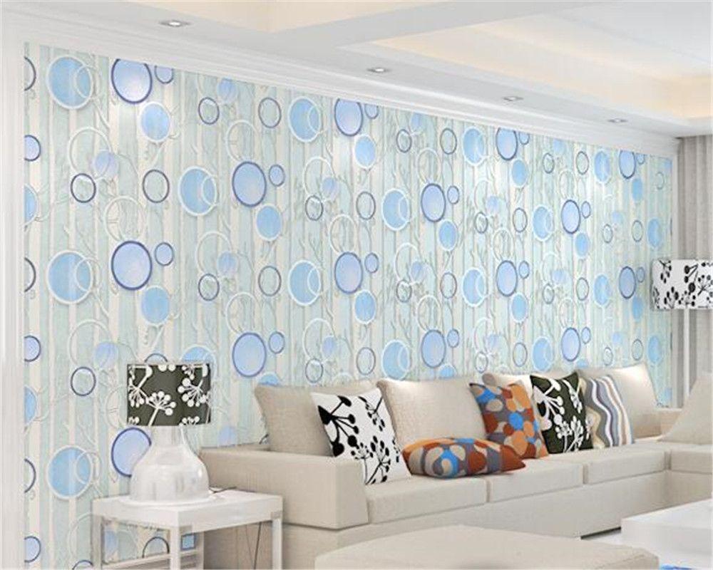 Beibehang high quality Circle Deerkin Velvet 3D Wallpaper Living ...