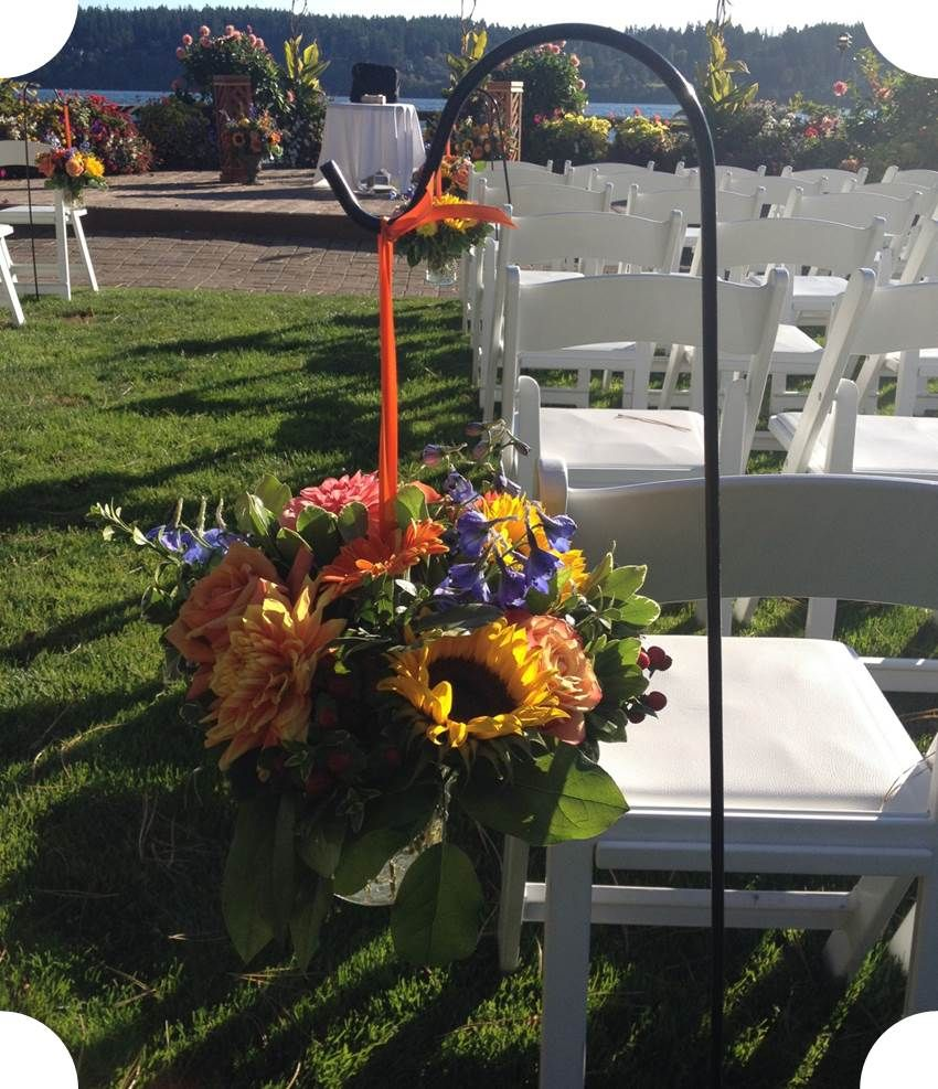 Summer Wedding Aisle Decorations sunflowers Wedding
