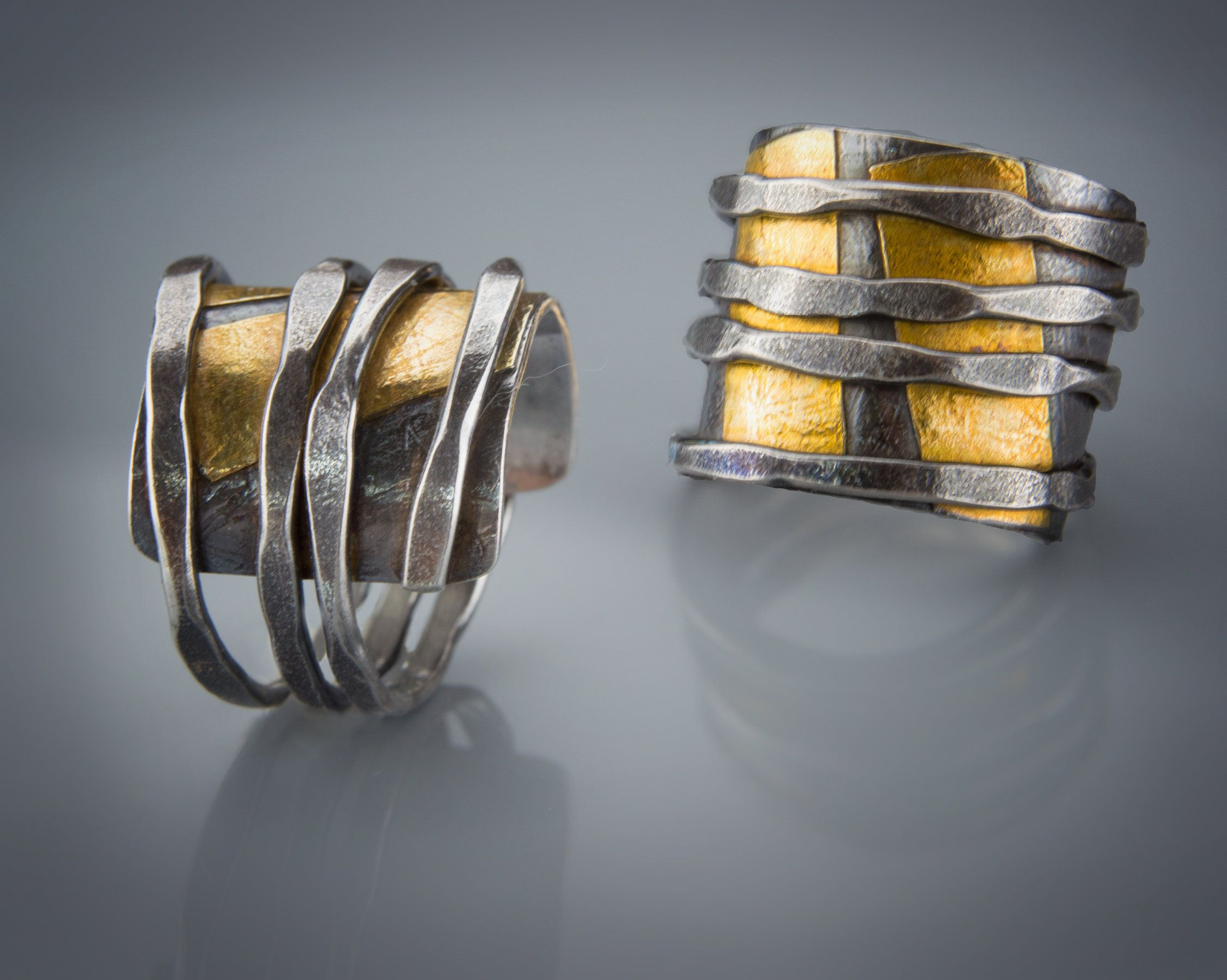 Zen Wrap Ring by Patricia McCleery (Gold & Silver Ring | Silver ring ...