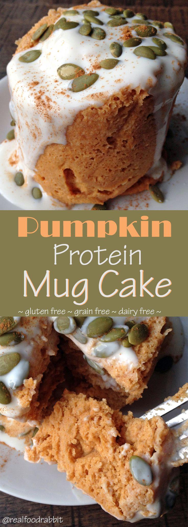 Pumpkin Mug Cake   Mug recipes, Protein mug cakes, Baking ...