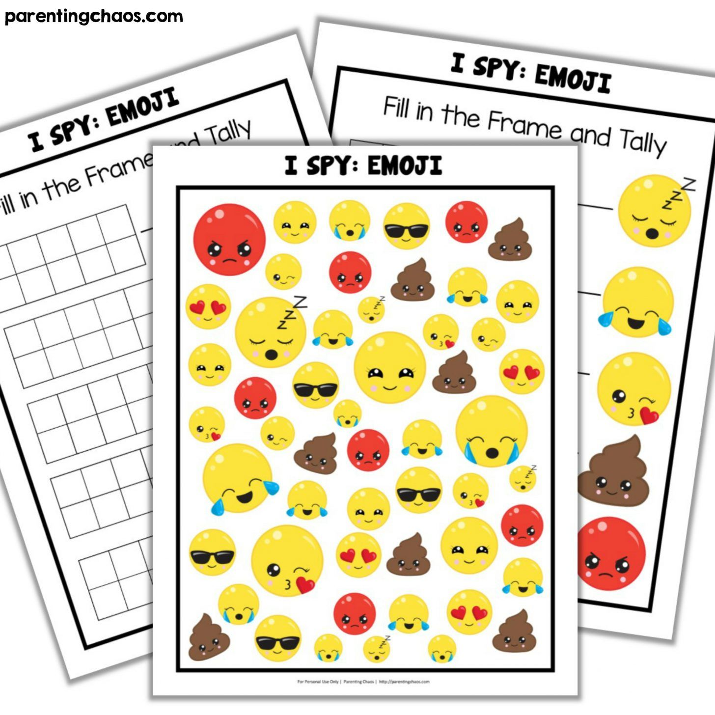 Emoji I Spy Printable
