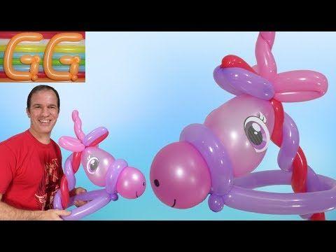 como hacer un pony con globos - globoflexia facil - figuras con