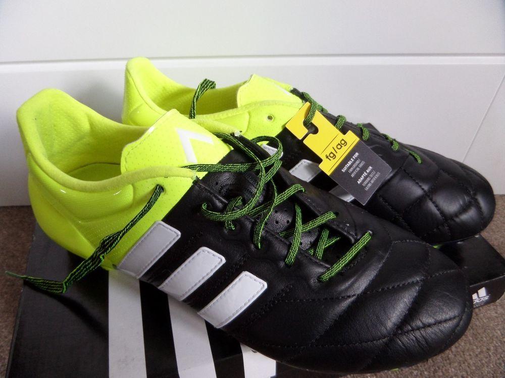1771cb3aca213 Adidas ACE 15.1 FG / AG Leather Pro Football Boots B32818 Soccer UK ...
