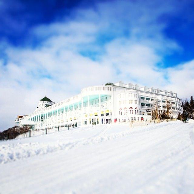 The Grand Hotel In Winter Mackinac Island Mackinac Island Michigan Michigan Outdoors Mackinaw Island Michigan