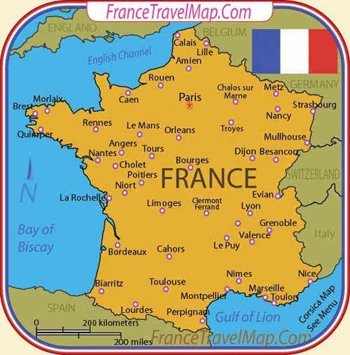 Carte De France France Nice France Map