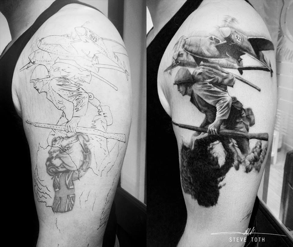 World War 2 Tattoo Cover Up. Www.facebook.com